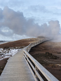 Geothermal Area Gunnuhver on Reykjanes Peninsula During Winter