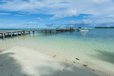 Boat Pier on Carp Island  One of the Rock Islands  Palau  Central Pacific