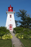 Canada  Prince Edward Island  Victoria  Beautiful Old Lighthouse Called Victoria Seaport Lighthouse