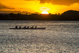 Evening Rowing in the Bay of Apia  Upolu  Samoa  South Pacific
