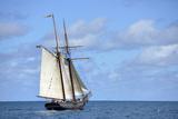 British Virgin Islands  Jost Van Dyke Freedom Schooner Amistad under Sail