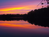 Canada  Ontario  Quetico Park  Lake Agnes Wilderness  Red Sunset