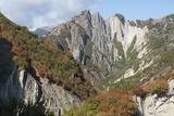 Azerbaijan  Sheki A Rocky Cliffside Outside of Sheki