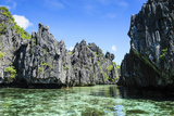 Crystal Clear Water in the Bacuit Archipelago  Palawan  Philippines