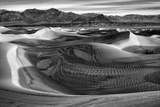 California  Death Valley National Park  Black-And-White Image of Mesquite Flat Dunes after Rain