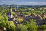 Evening Sunlight over Medieval Town of Collonges-La-Rouge  Department of Limousin  Correze  France