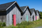 Canada  Prince Edward Island  Prim Point Graphic Beauty of Stacked Lobster Fish Houses