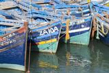 Morocco  Essaouira  Small Boats Tied in Harbor