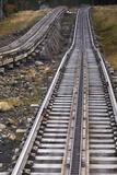 USA  New Hampshire  White Mountains  Bretton Woods  Mount Washington Cog Railway Trestle