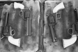 USA  Florida  Plant City  Guns on Display for a Cowboy Mounted Shooting Competition