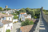 Portugal  Obidos  Looking Down on the Historic Center from the City Wall