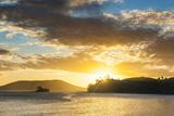 Sunset over the Beach  Nacula Island  Yasawa  Fiji  South Pacific