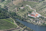 Portugal  Douro Valley  Douro River and Hillside Vineyard