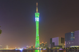 Riverfront View of 600 Meter High Canton Tower  Guangzhou  China