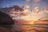 USA  Hawaii  Kauai  Coast  Sunset Along the Coast
