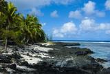 Rocky Beach in Tau Island  Manuas  American Samoa  South Pacific