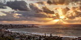 USA  California  La Jolla  Panoramic View of La Jolla Shores and the Village at Sunset