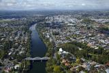 Hamilton  Waikato River and Fairfield Bridge  Waikato  North Island  New Zealand  Aerial