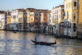 Gondolas Along the Grand Canal  Venice  Italy