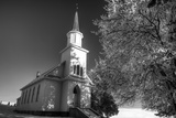 USA  Idaho  Lutheran Church Near Genesee with Snow Covering the Trees