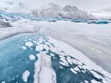 Skaftafelljokull Glacier in Vatnajokull During Winter