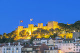 Portugal  Lisbon  Sao Jorge Castle at Dusk