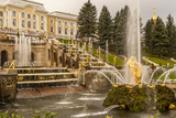 Unesco World Heritage Site Grand Cascade Peterhof Palace Saint Petersburg  Russia