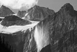 Glacial Waterfall  Rocky Mountains  Moraine Lake Area  Banff National Park  Alberta  Canada