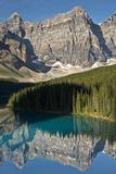 Morning  Moraine Lake  Reflection  Canadian Rockies  Banff National Park  Alberta  Canada