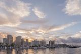 Hawaii  Honolulu  Waikiki Skyline at Sunrise