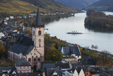 Germany  Hesse  Lorch Am Rhine  Elevated Town View in Late Afternoon