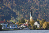 Germany  Bavaria  Tegernsee Lake District  Rottach-Eggern  View of the Tegernsee Lake