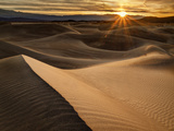 USA  California  Death Valley National Park  Sunrise over Mesquite Flat Dunes
