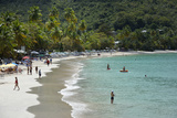 Sandy Cay British Virgin Islands  Tortola People Walking on the Beach at Cane Garden Bay