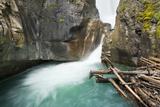 Johnston Falls and Creek  Johnston Canyon  Banff National Park  Alberta  Canada