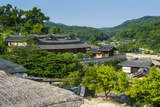 Traditional Wooden Houses in the Yangdong Folk Village Near Gyeongju  South Korea