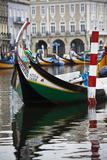 Portugal  Aveiro  Moliceiro Boats Along the Main Canal of Aveiro