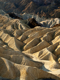 USA  California  Death Valley National Park Erosion at Work Near Zabriskie Point