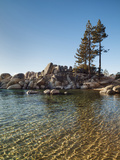 USA  Nevada  Lake Tahoe  Transparent Ripples on the Water at Sand Harbor State Park