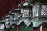 Small Metal and Gold Lanterns Kasuga-Taisha Shrine in Nara  Japan