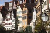Germany  Baden-Wurttemburg  Tubingen  Old Town Buildings Along the Neckar River