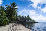 Traditional Thatched Roof Hut  Yap Island  Micronesia