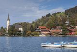 Germany  Bavaria  Schliersee Lake District  Schliersee  Lake and Boats