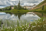 USA  Colorado  Gunnison National Forest Paradise Divide and Pond Reflection