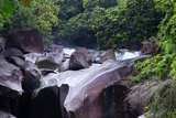 The Babinda Boulders Is a Fast-Flowing River Surrounded by Smooth Boulders  Queensland  Australia