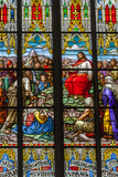 Germany  Rhineland-Pfalz  Speyer  Memorial Church  Interior View of Stained Glass Windows