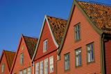 Traditional Wooden Hanseatic Merchants Buildings of the Bryggen  Bergen  Norway  Scandinavia
