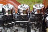 USA  Massachusetts  Cape Ann  Gloucester  Antique Car Show  Triple Carburetors