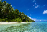 White Sand Beach in Turquoise Water in the Ant Atoll  Pohnpei  Micronesia