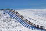 Washington  Fence Rolling over Hillside in Snow